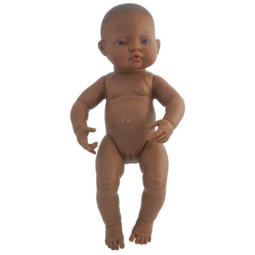 Miniland - Anatomically Correct Baby Doll 40cm - Latin American Girl ( Undressed )
