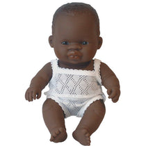 Miniland - Anatomically Correct Baby Doll - African Girl 21cm - Eco Child