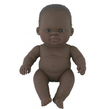 Miniland - Anatomically Correct Baby  - African Girl 21cm (undressed) - Eco Child