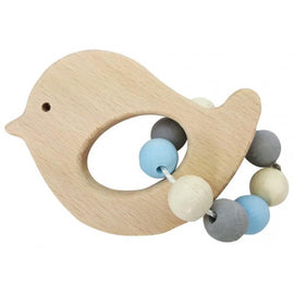 Hess-Spielzeug Rattle Bird - Natural Blue - Eco Child