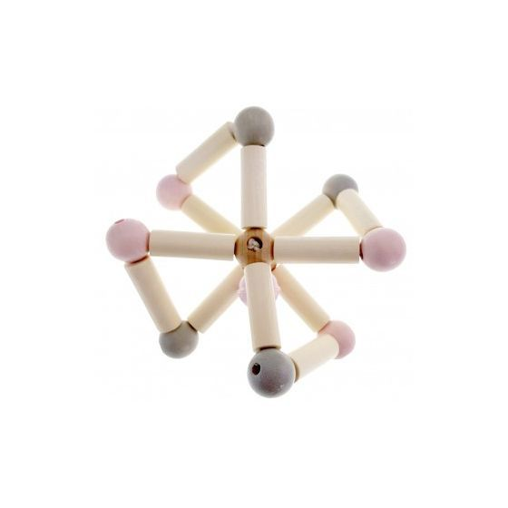 Hess-Spielzeug Rattle Twisty - Natural Pink - Eco Child
