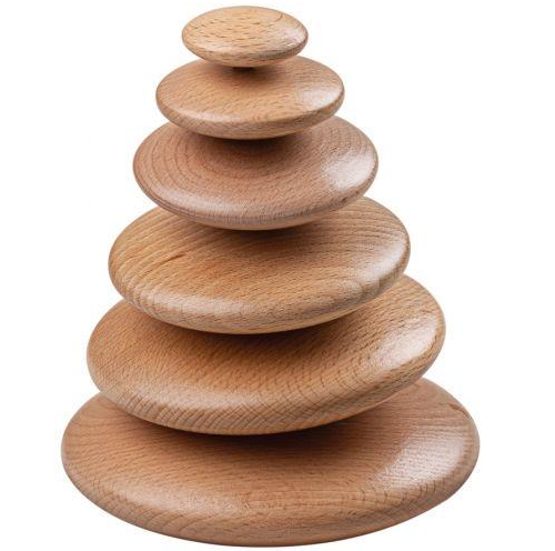 Bigjigs Toys - Wooden Stacking Natural Pebbles - Eco Child