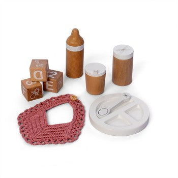 Astrup - Wooden Doll Feeding Set 9pcs - Eco Child