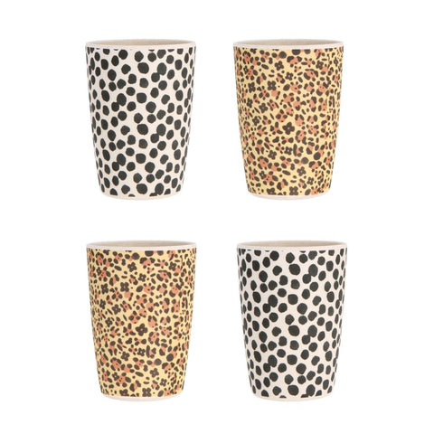 Love Mae - Bamboo 4 Pack Tumblers Janguar & Jungle - Eco Child