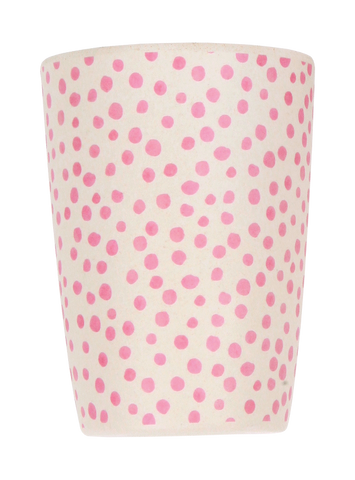 Love Mae - Bamboo 4 Pack Tumblers In Bloom and Pink Spot - Eco Child