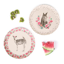Love Mae - Bamboo 4pk Plates Unicorn & Deer - Eco Child