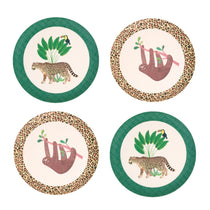 Love Mae - Bamboo 4pk Plates Sloth & Jaguar - Eco Child