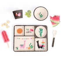 Love Mae - Bamboo Divided Plate Set Llamarama - Eco Child