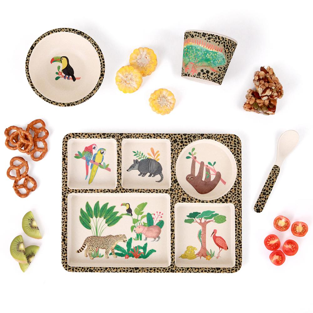 Love Mae - Bamboo Divided Plate Set Amazon - Eco Child