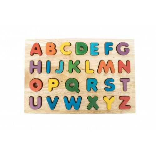 Qtoys - Wooden Upper Case Letter Puzzle