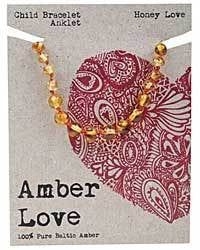Amber Love - 100% Pure Genuine Baltic Amber bracelet/anklet - Honey Love