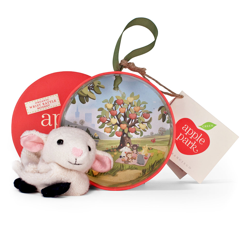 Apple Park - Lamby Wrist Rattle - Eco Child