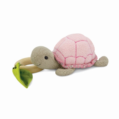 Apple Park - Crawling Critter Teething Toy - Turtle Pink