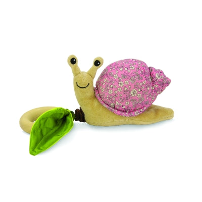 Apple Park - Crawling Critter Teething Toy - Snail Pink Floral