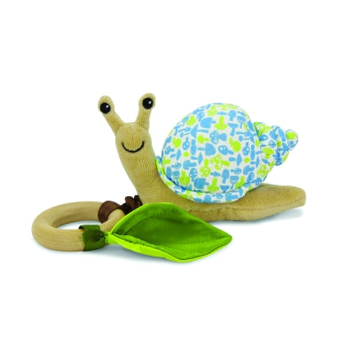 Apple Park - Crawling Critter Teething Toy - Snail Blue Floral