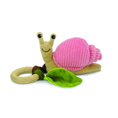 Apple Park - Crawling Critter Teething Toy - Snail Pink Corduroy
