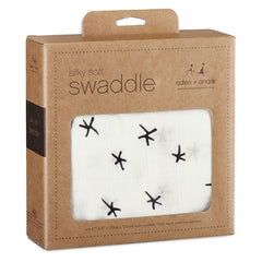 Aden and Anais - Silky Soft swaddle - Midnight