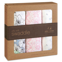 Aden and Anais - Silky Soft Swaddling Wraps - 3 Pack - Meadowlark