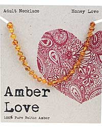 Amber Love - 100% Pure Genuine Baltic Amber Necklace - Honey Love