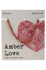 Amber Love - 100% Pure Genuine Baltic Amber Necklace - Cognac Love