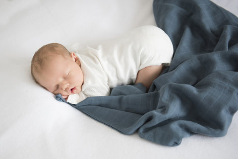 Snuggle Hunny Kids -Azure Organic Muslin Wrap - Eco Child