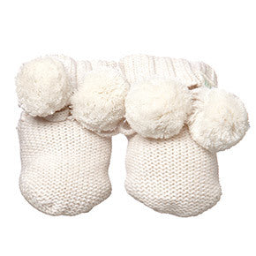Toshi - Organic Baby Booties - Cream