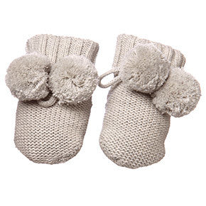 Toshi - Organic Baby Booties - Dove Grey