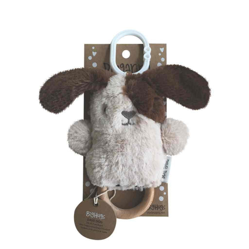 OB Designs - Dingaring Teething Rattle - Dave Dog - Beige