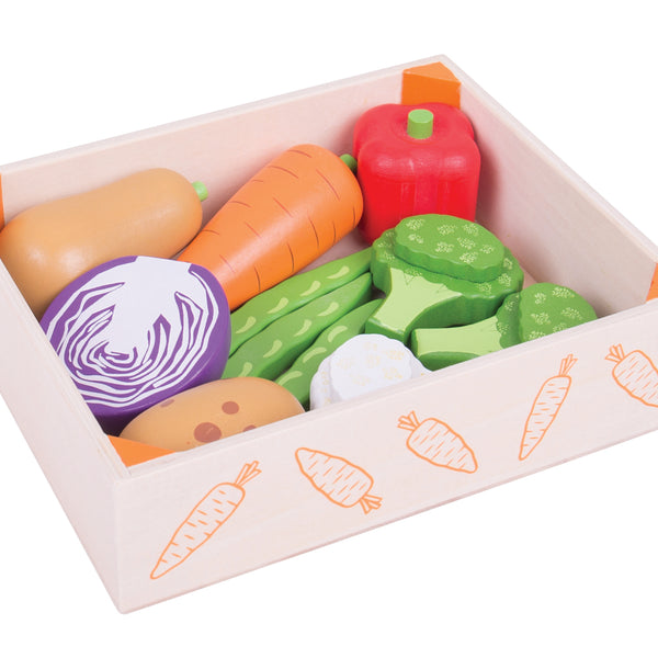 Bigjigs - Wooden Vegentable Crate - Eco Child