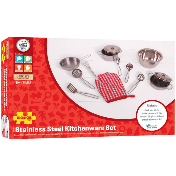 Bigjigs - Stainless Steel Kitchenware Set - Eco Child