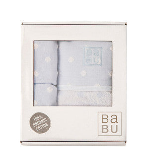 Babu - Bathing Gift Box Muslin Terry - Blue