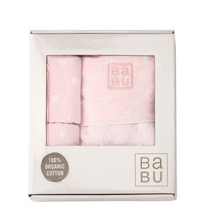 Babu - Bathing Gift Box Muslin Terry - Pink