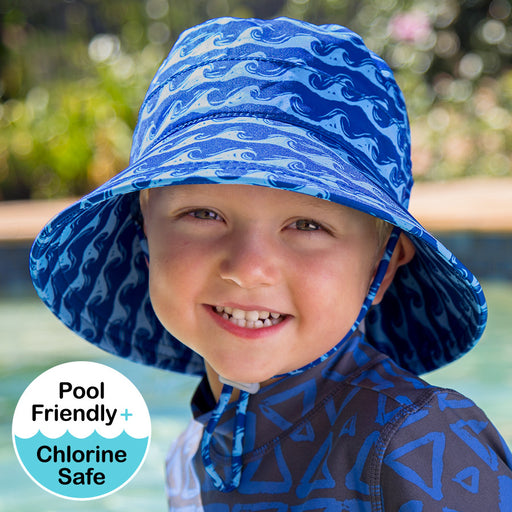 Bedhead Hats - Boys Beach Bucket UPF50+ Hat - Breaker Ocean