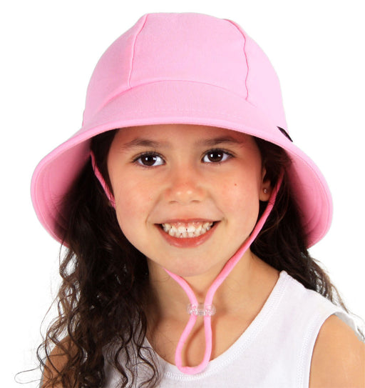 Bedhead Hats - Girls Ponytail Bucket Hat with Strap - Pink
