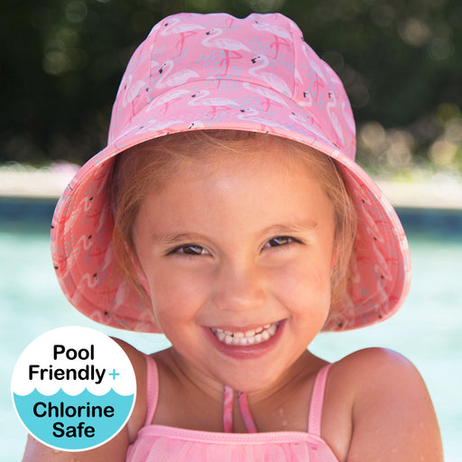 Bedhead Hats - Girls Beach Bucket UPF50+ Hat - Flamingo