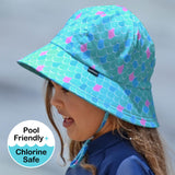 Bedhead Hats - Girls UPF50+ Bucket Swim Hat - Sirena