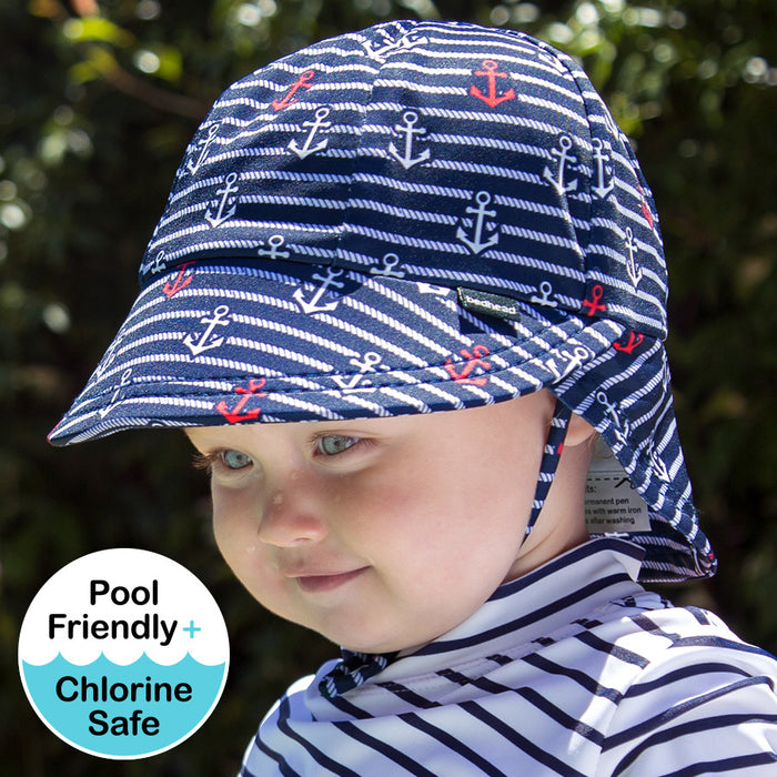 Bedhead Hats - Kids Beach Legionnaire Hat UPF50+ Nautical