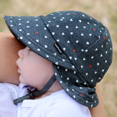 Bedhead Hats - Girls Legionnaire Hat with strap - Sweetheart