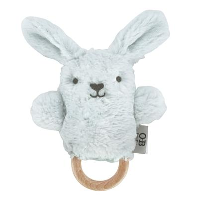 OB Designs - Dingaring Teething Rattle - Baxter Bunny Light Blue - Eco Child