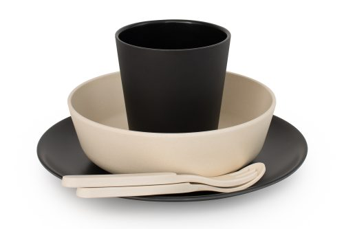 Bobo & Boo - Bamboo 5 Piece Dinner Set - Monochrome