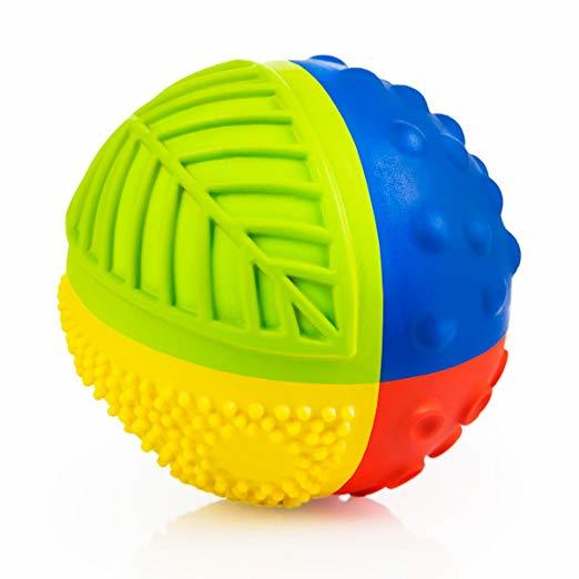 CaaOcho - 100% Natural Rubber - Petit Rainbow Ball Bath Toy.