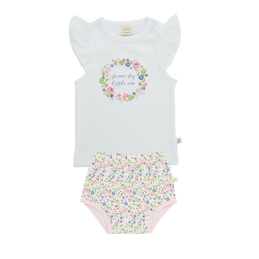 Tiny Twig - T-Shirt Set - White/Summer Flower