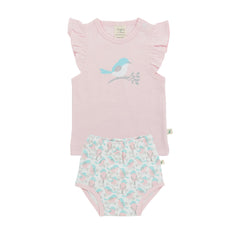 Tiny Twig - T-Shirt Set - Soft Pink/Love Birds