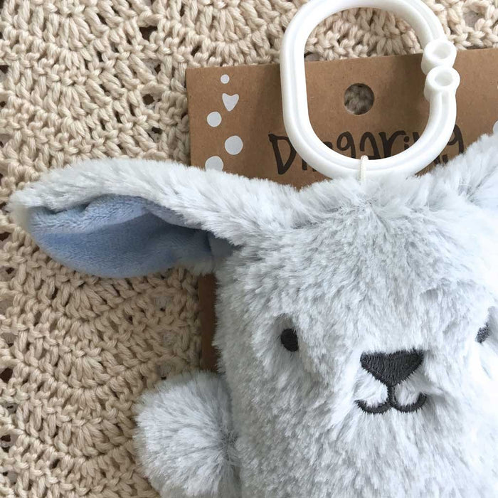 OB Designs - Dingaring Teething Rattle - Bruce Bunny - Blue