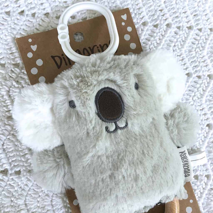 OB Designs - Dingaring Teething Rattle - Kelly Koala - Grey