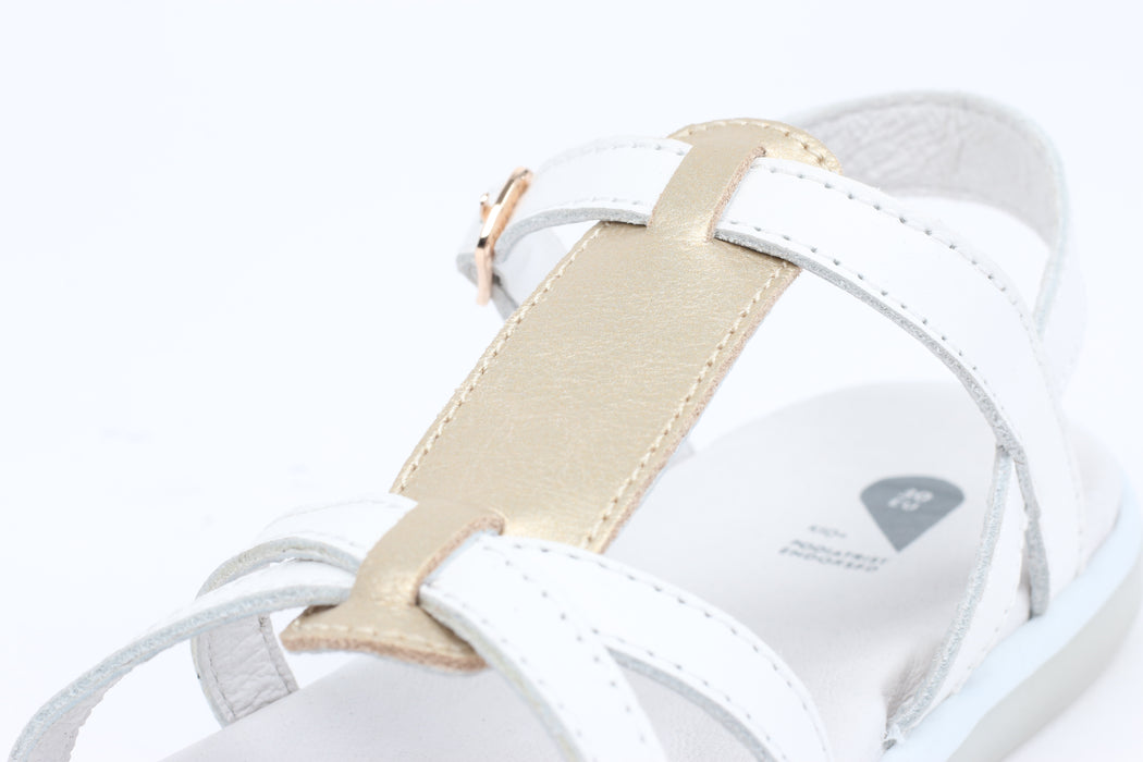 Bobux - Kid Plus - Pixie Sandal - White/Misty Gold