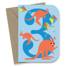 Earth Greetings - 100% Earth Friendly Gift Cards - 3rd Birthday Kite Kangas