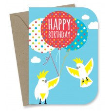 Earth Greetings - 100% Earth Friendly Gift Cards - Happy Cockatoos