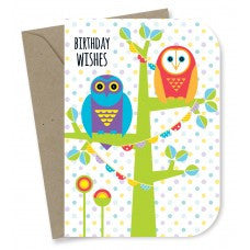 Earth Greetings - 100% Earth Friendly Gift Cards - Owl Wishes