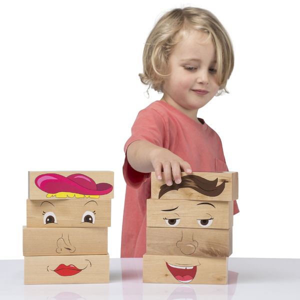 The Freckled Frog - How am I feeling Wooden Blocks, , Best Sellers, Micki, Toys, Wooden Toys, Toys, wooden toys for babies, baby toys, newborn toys, baby wooden toys, wooden toys, sustainable, Eco friendly, environment friendly, Eco, Natural, eco products in Australia